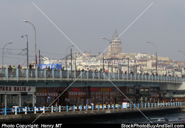 Stock photo - Galata bridge Istanbul