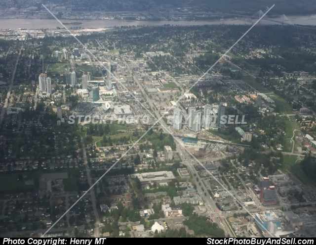 Stock photo - Surrey BC city aerial view