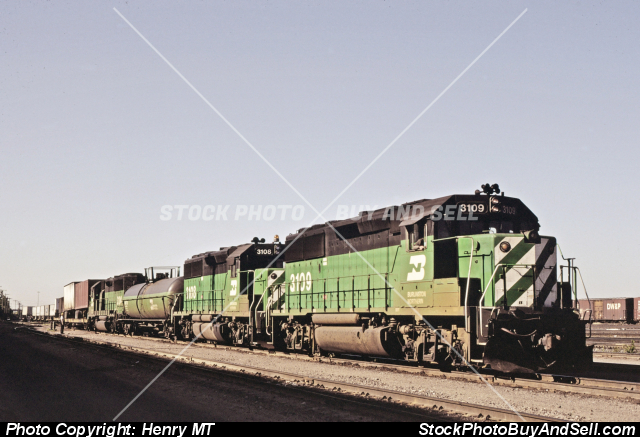 Burlington Northern Railroad Train