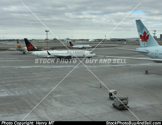 Stock photo - Air Canada Boeing 737 Max airliner Montreal airport