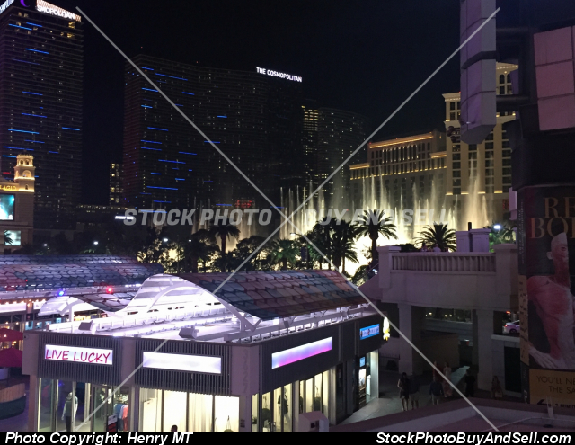 The Cosmopolitan Casino Las Vegas Strip night view