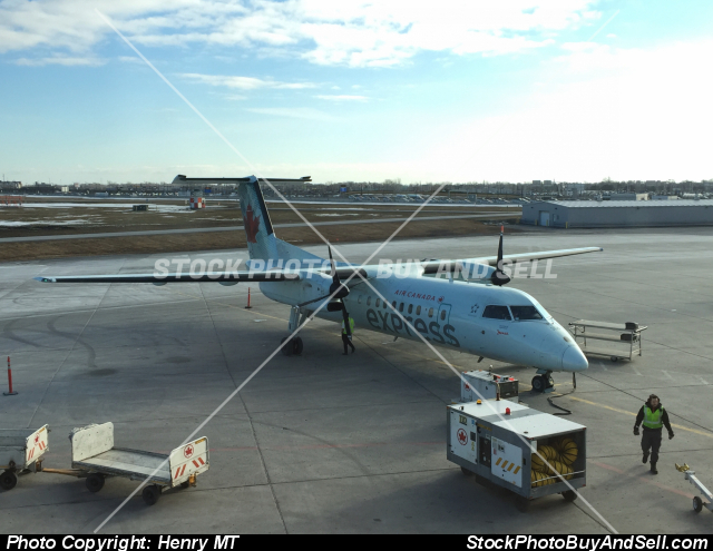 Stock photo - Air Canada Express Dash-8 commuter plane Montreal