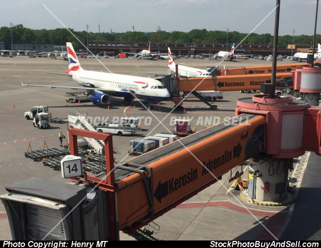 Berlin Tegel airport British Airways jets