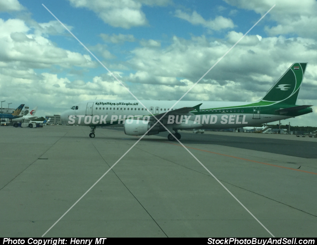 Stock photo - Iraqi Airways Airbus airliner at Frankfurt