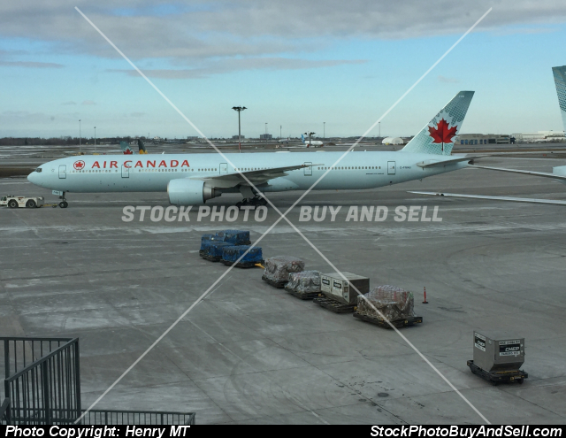Stock photo - Air Canada Boeing 777 airliner Montreal airport