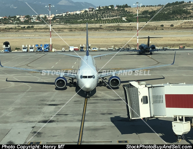 Stock photo - AnodoluJet 737-800 Izmir Airport Turkey