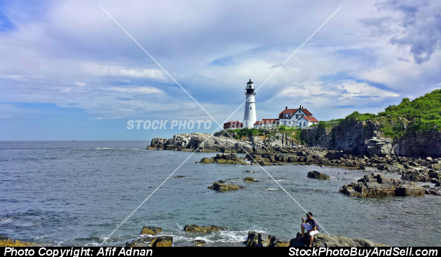 Stock photo - Lighthouse by the Sea 2