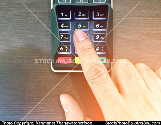 press credit card machine