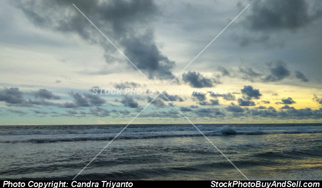 Stock photo - beach in the afternoon