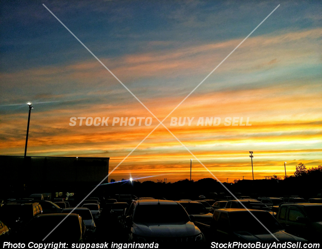Stock photo - Sunset in evening.