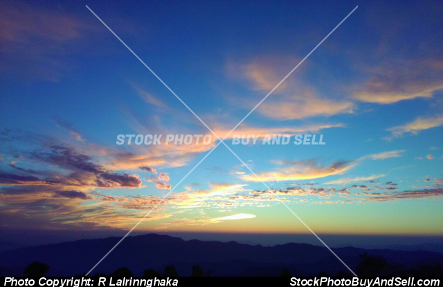 Stock photo - sky when the sunset
