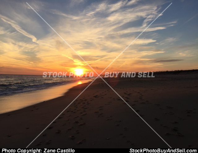 Stock photo - Sunset at the beach