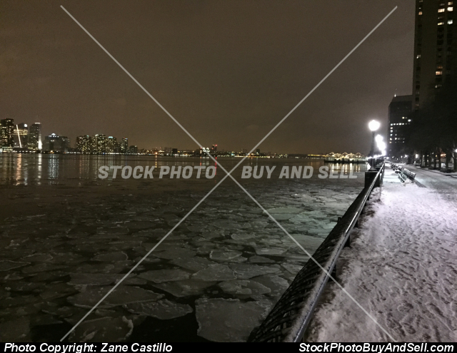 Stock photo - Cold night in New York