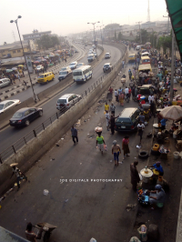 Mile 12 Market, Lagos Nigeria. A view from above.