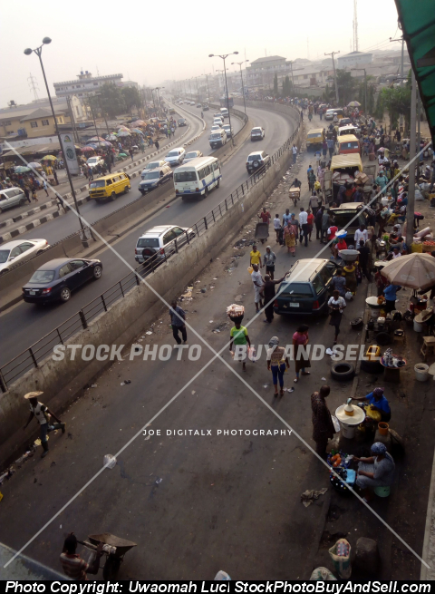Stock photo - Mile 12 Market, Lagos Nigeria. A view from above.