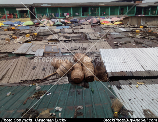 Stock photo - The Roof of Mile 12 Market in Lagos, Nigeria