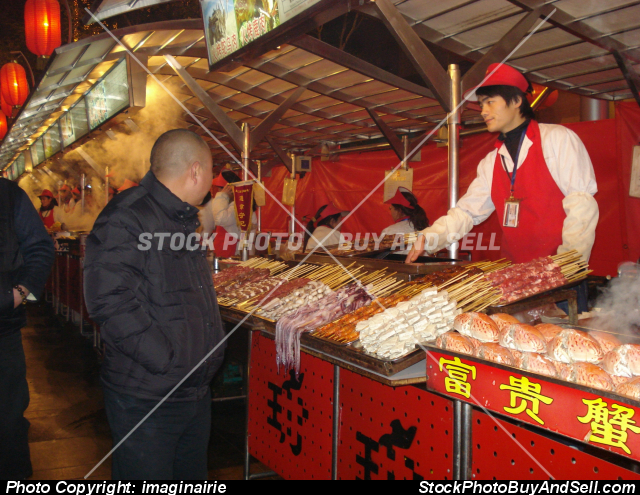 Stock photo - Wangfujing Night Market, Beijing, China