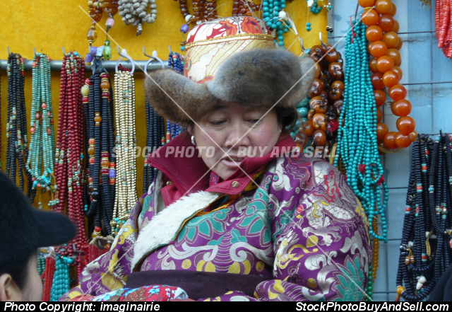 Stock photo - One of the many merchants at Panjiayuan Antiques Market, Beijing